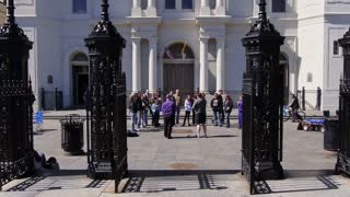 Saint Louis Cathedral Tourists During Mardi Gras 4064