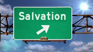 Salvation Road Sign Background