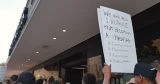 SAN ANTONIO, TX - Circa September, 2016 - A Black Lives Matter protest march in downtown San Antonio, Texas.