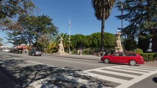 SAUSALITO, CA - Circa October, 2015 - A daytime establishing shot of downtown Sausalito, CA.