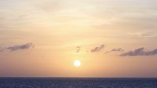 Sea Sunset Horizon Background