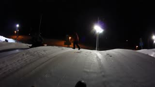Snow Tubing at Night POV