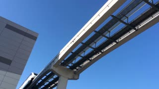 The Las Vegas Monorail travels overhead.