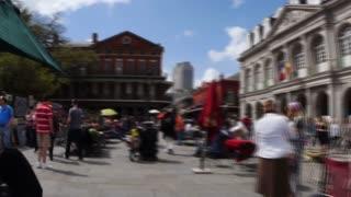 Timelapse View of Mardi Gras Tourists 4075