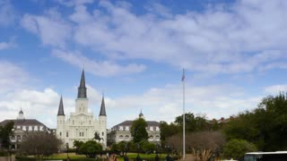 Timelapse View of St Louis Cathedral in New Orleans 4052
