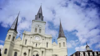 Timelapse View of the St Louis Cathedral in New Orleans 4016