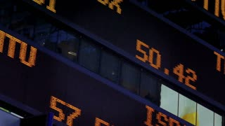 Times Square Stock Market Ticker Background