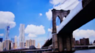 Tourist Takes Picture of Brooklyn Bridge 3653