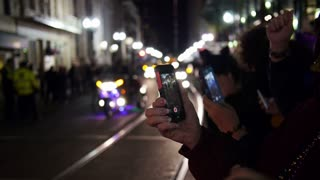 Tourists Record a Mardi Gras Parade on their iPhones 4109
