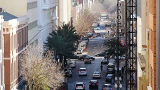 Traffic on Baronne Street in Downtown New Orleans 4068