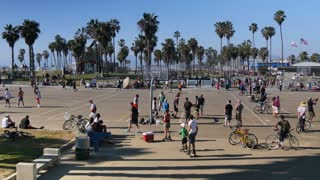 Venice Beach Basketball Courts Establishing Shot