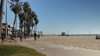 Venice Beach Bike Path Establishing Shot