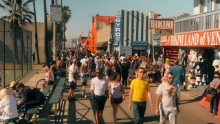 Venice Beach Board Walk Establishing Shot