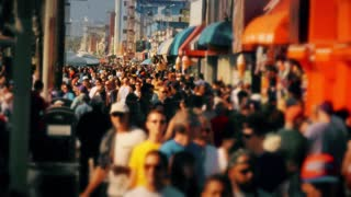 Venice Beach Boardwalk People Walking