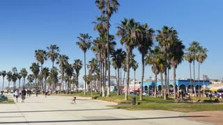 Venice Beach Establishing Shot