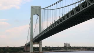 Verrazano-Narrows Bridge Day Summer Establishing Shot