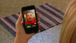 Video Chatting on Smartphone Videochat Facetime