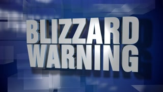 A blue dynamic 3D Blizzard Warning transition and title page animation. 5 and 2 second options included with optional luma matte for both.