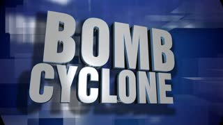 A blue dynamic 3D Bomb Cyclone transition and title page animation. 5 and 2 second options included with optional luma matte for both.