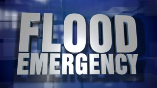 A blue dynamic 3D Flood Emergency news transition and title page animation. 5 and 2 second options included with optional luma matte for both.