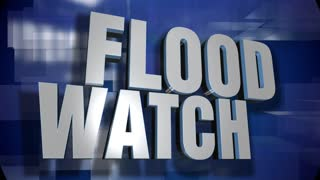 A blue dynamic 3D Flood Watch news transition and title page animation. 5 and 2 second options included with optional luma matte for both.