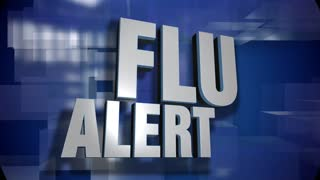 A blue dynamic 3D Flu Alert transition and title page animation. 5 and 2 second options included with optional luma matte for both.