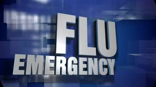 A blue dynamic 3D Flu Emergency transition and title page animation. 5 and 2 second options included with optional luma matte for both.