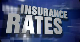 A blue dynamic 3D Insurance Rates transition and title page animation. 5 and 2 second options included with optional luma matte for both.