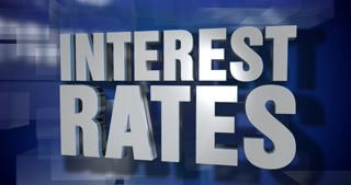 A blue dynamic 3D Interest Rates transition element and title page animation. 5 and 2 second options included with optional luma matte for both.