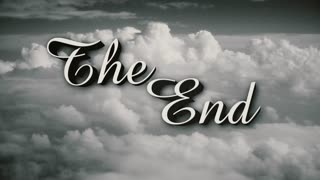 A retro, old-fashioned Wizard of Oz-style The End movie or film end title page. Includes three distressed film options plus normal, clean version.