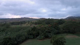 A time lapse view of overcast skies over the Guam landscape.