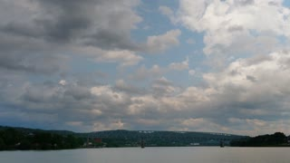 A timelapse view of storm clouds rolling in over the Ohio River in Western Pennsylvania.