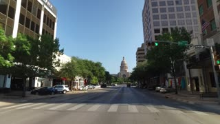 AUSTIN, TX - Circa September, 2016 - A driver's perspective on Congress Avenue in downtown Austin, Texas.