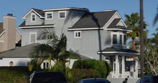 CORONADO ISLAND - Circa February, 2017 - A day establishing shot of typical upscale home on Coronado Island outside of San Diego.
