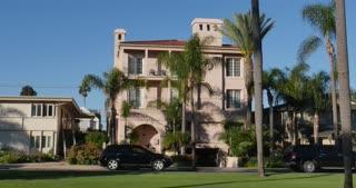 CORONADO ISLAND - Circa February, 2017 - A daytime establishing shot of typical upscale home on Coronado Island outside of San Diego.