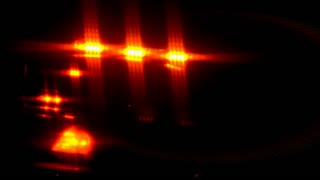Flashing Police Car Lights at Night