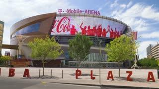 LAS VEGAS - Circa April, 2017 - A day establishing shot of T-Mobile Arena, home to the Las Vegas Golden Knights.
