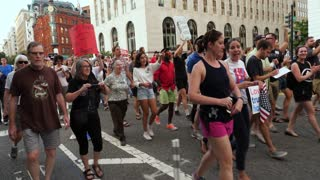 WASHINGTON, D.C. - Circa August, 2017 - Anti-hate protesters march on Pennsylvania Avenue after the events in Charlottesville, Virginia.