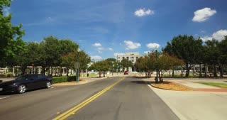 WACO, TX - Circa September, 2016 - Driving past the Waco City Hall on a sunny summer day.
