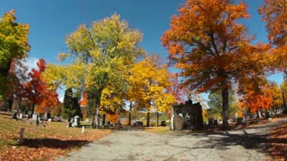 Wandering Through a Cemetery in the Fall