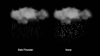 Weather Icons Rain and Snow 809