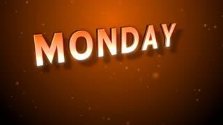 Weekdays Animation Background