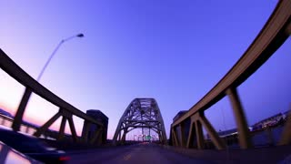 West End Bridge at Dusk POV Evening