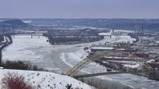 Winter Pittsburgh Establishing Shot