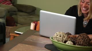Woman with Laptop 901