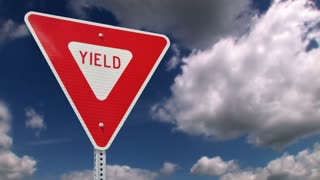 Yield Road Sign 740