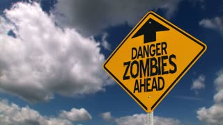 Zombie Warning Sign Background