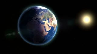 Zoom to Europe Animation Background