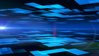 4k abstract background of blue squares. 3d rendering.