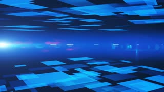 Abstract background of blue squares. 3d rendering.